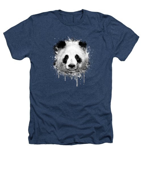Cool Abstract Graffiti Watercolor Panda Portrait In Black And White  Heathers T-Shirt by Philipp Rietz