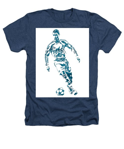 Cristiano Ronaldo Real Madrid Pixel Art 1 Heathers T-Shirt