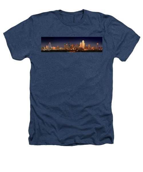 Dallas Skyline At Dusk  Heathers T-Shirt