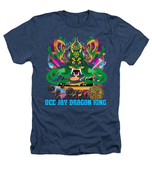 Dee Jay  Dragon 7  King All Products Heathers T-Shirt by Bill Campitelle