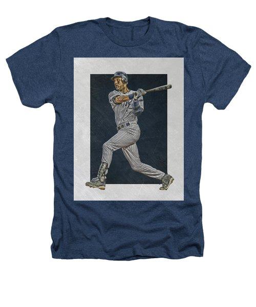 Derek Jeter New York Yankees Art 2 Heathers T-Shirt by Joe Hamilton