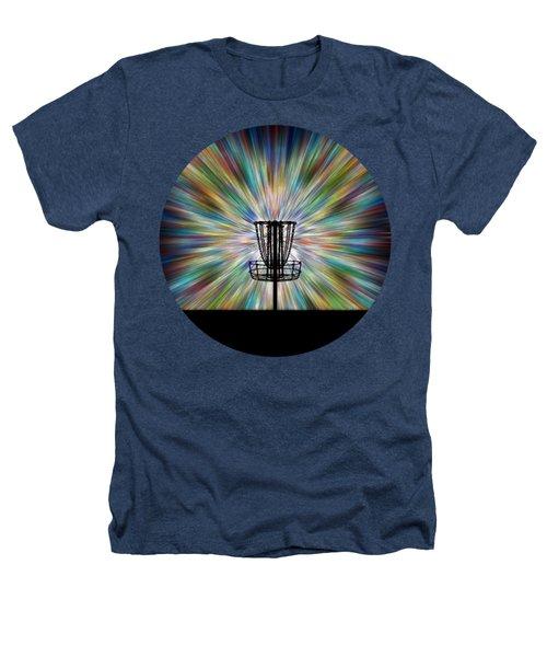 Disc Golf Basket Silhouette Heathers T-Shirt