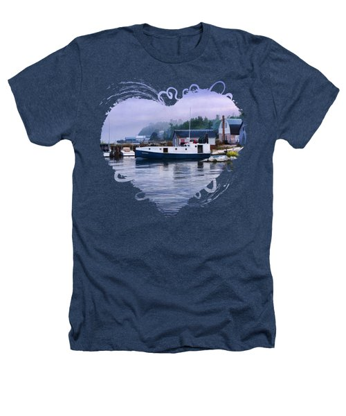 Door County Gills Rock Fishing Village Heathers T-Shirt by Christopher Arndt