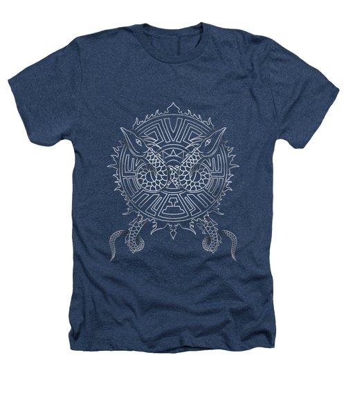 Dragon Shield Heathers T-Shirt by Christopher Szilagyi