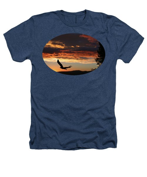 Eagle At Sunset Heathers T-Shirt