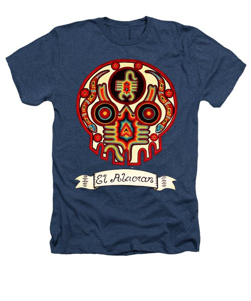 El Alacran - The Scorpion Heathers T-Shirt by Mix Luera