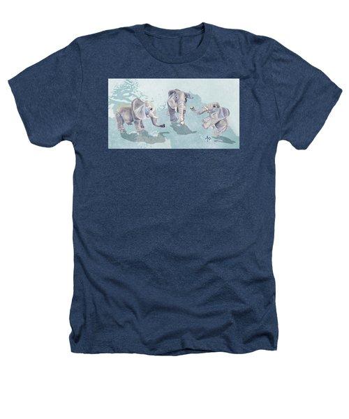 Elephants In Blue Heathers T-Shirt