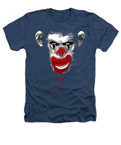 Evil Monkey Clown Heathers T-Shirt by Nicklas Gustafsson