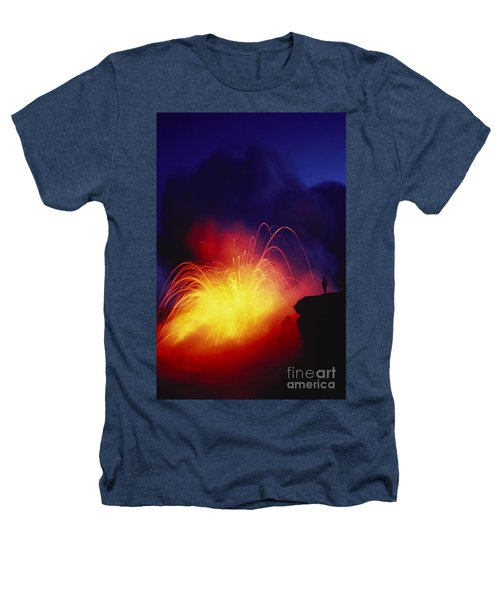 Exploding Lava And Person Heathers T-Shirt by Greg Vaughn - Printscapes