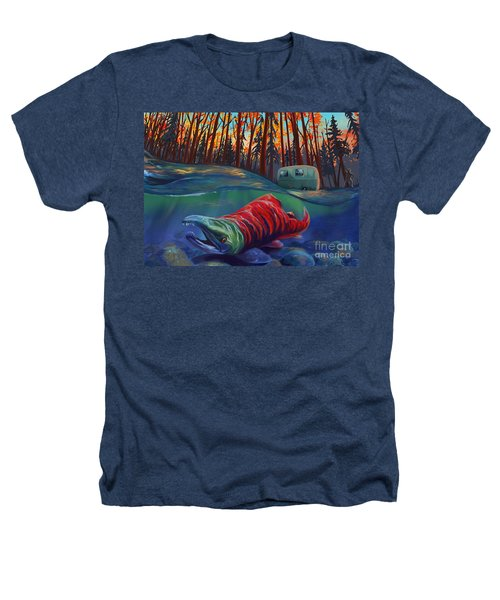 Fall Salmon Fishing Heathers T-Shirt