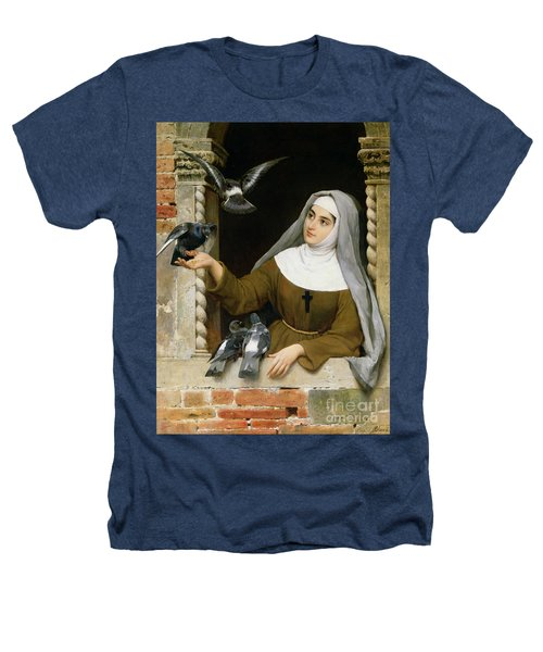 Feeding The Pigeons Heathers T-Shirt