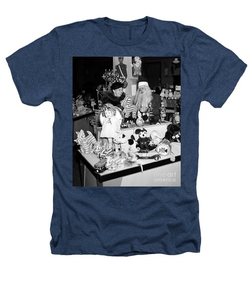First Lady Eleanor Roosevelt And Santa Heathers T-Shirt by Science Source