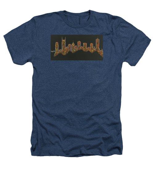 Floating Nashville Skyline Bl Heathers T-Shirt by Helen Prater