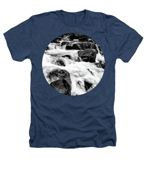 Flow, Black And White Heathers T-Shirt by Adam Morsa