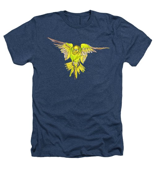 Flying Budgie Heathers T-Shirt