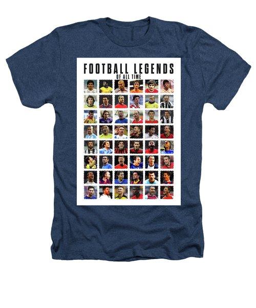 Football Legends Heathers T-Shirt by Semih Yurdabak