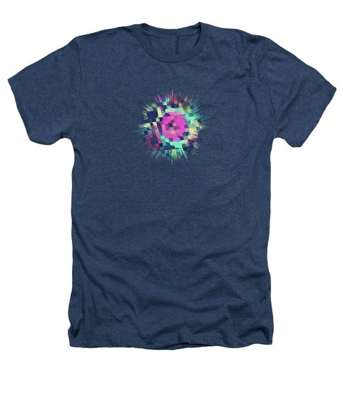 Fruity Rose   Fancy Colorful Abstraction Pattern Design  Green Pink Blue  Heathers T-Shirt
