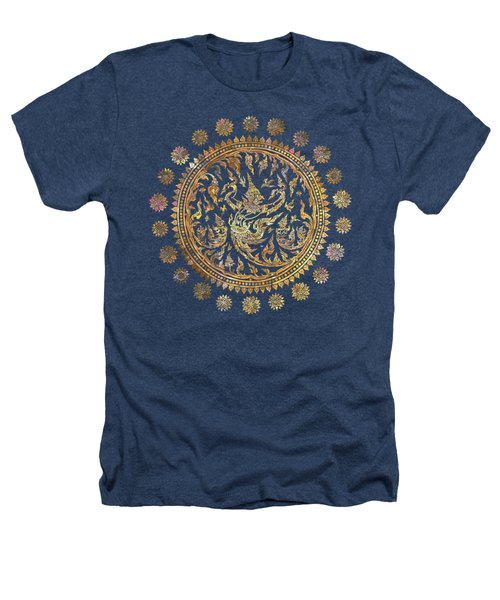 Garuda's Golden Victory - Color Edition Heathers T-Shirt by David Ardil
