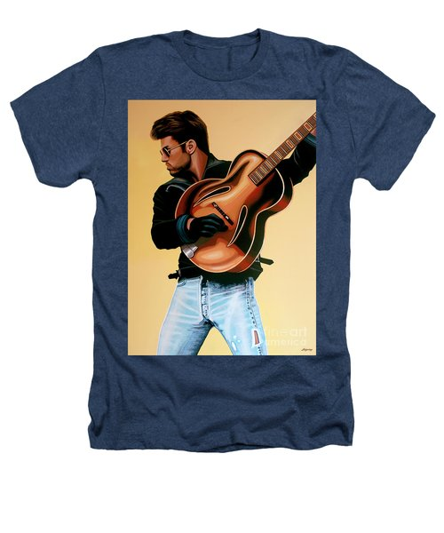 George Michael Painting Heathers T-Shirt by Paul Meijering