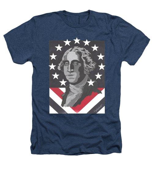 George Washington T-shirt Heathers T-Shirt by Herb Strobino
