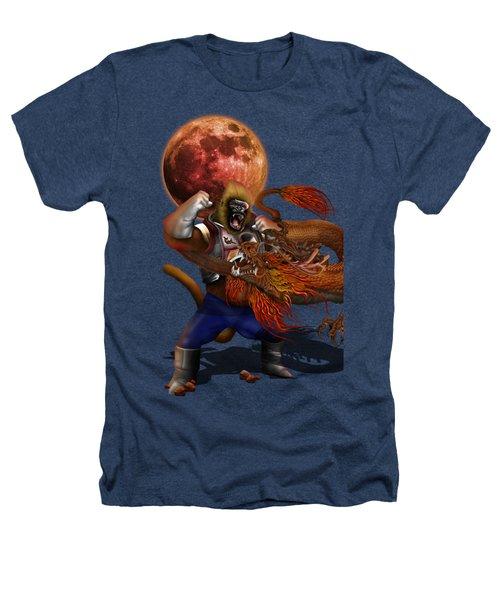 Giant Monkey Vs Shen Long Heathers T-Shirt