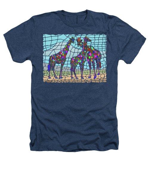 Giraffe Maze Heathers T-Shirt by Anthony Mwangi