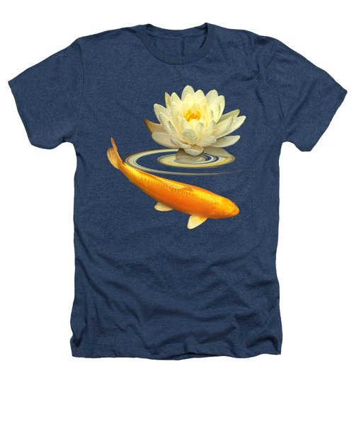 Golden Harmony Square Heathers T-Shirt by Gill Billington