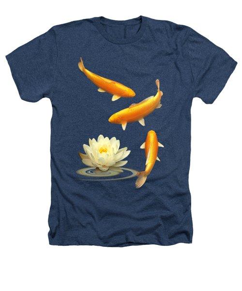 Golden Harmony Vertical Heathers T-Shirt by Gill Billington