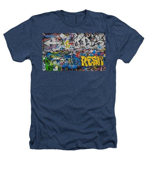 Grafitti On The U2 Wall, Windmill Lane Heathers T-Shirt by Panoramic Images