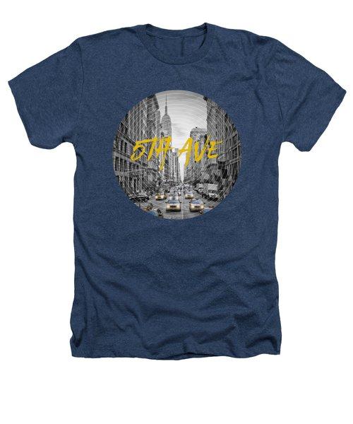 Graphic Art Nyc 5th Avenue Heathers T-Shirt by Melanie Viola