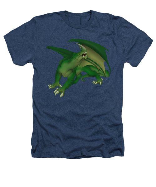 Green Dragon Heathers T-Shirt by Gaynore Craps