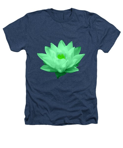 Green Lily Blossom Heathers T-Shirt by Shane Bechler