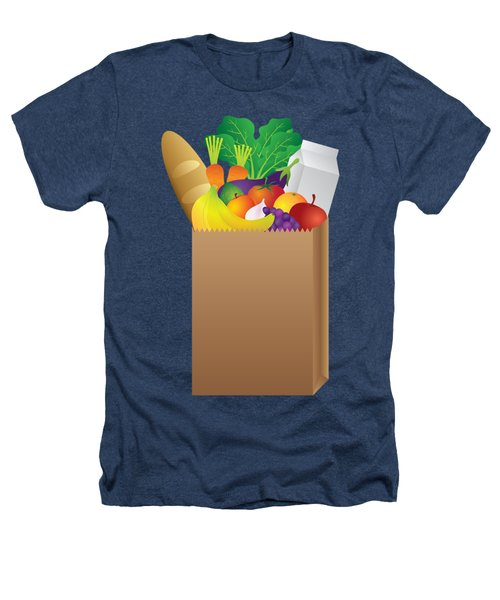 Grocery Paper Bag Of Food Illustration Heathers T-Shirt by Jit Lim