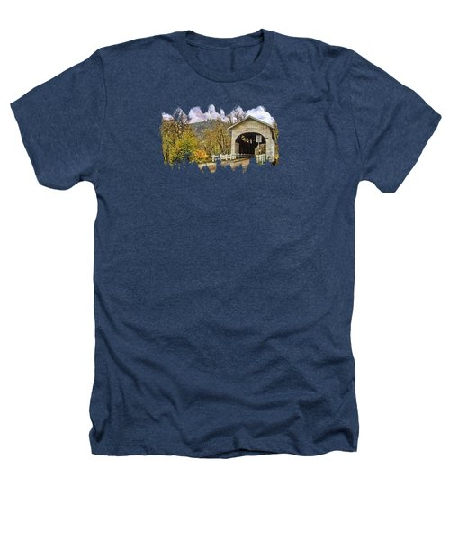 Harris Covered Bridge Heathers T-Shirt by Thom Zehrfeld