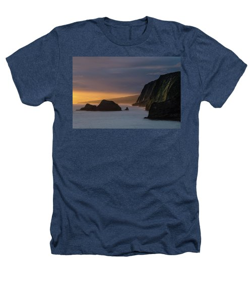 Hawaii Sunrise At The Pololu Valley Lookout Heathers T-Shirt
