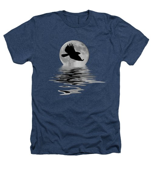 Hawk In The Moonlight Heathers T-Shirt