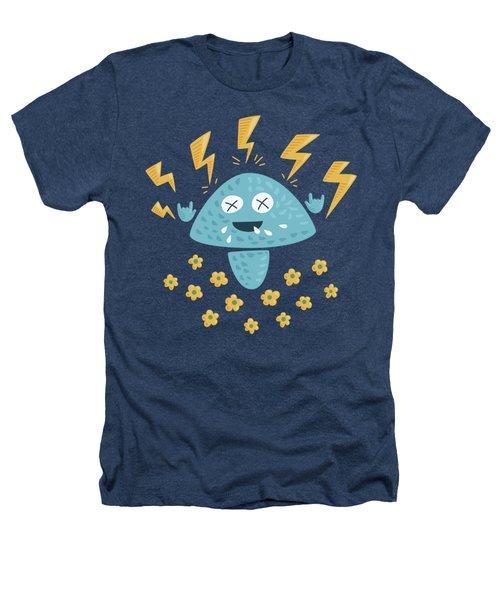 Heavy Metal Mushroom Heathers T-Shirt