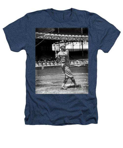 Home Run Babe Ruth Heathers T-Shirt by Jon Neidert