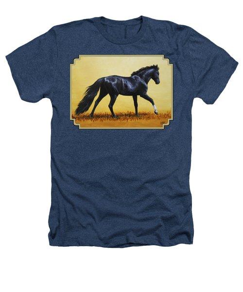 Horse Painting - Black Beauty Heathers T-Shirt