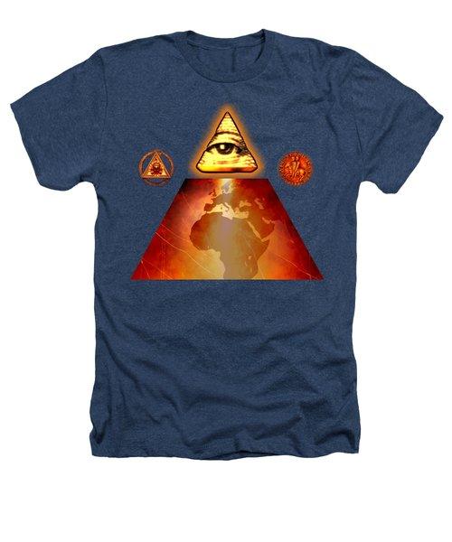 Illuminati World By Pierre Blanchard Heathers T-Shirt by Pierre Blanchard