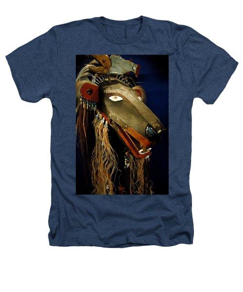 Indian Animal Mask Heathers T-Shirt by LeeAnn McLaneGoetz McLaneGoetzStudioLLCcom