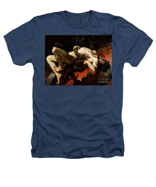 Ixion Thrown Into Hades Heathers T-Shirt by Jules Elie Delaunay