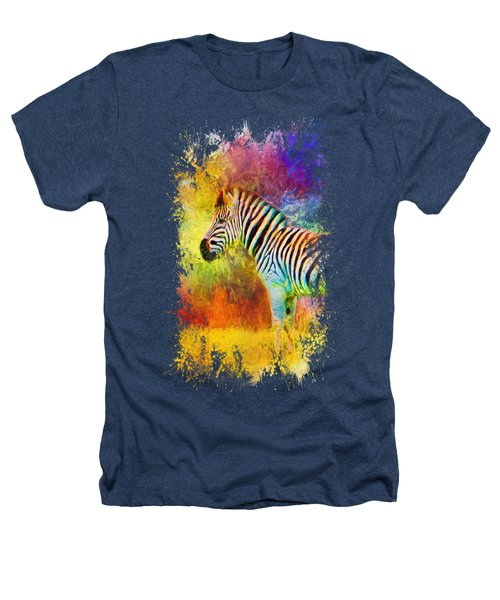 Jazzy Zebra Colorful Animal Art By Jai Johnson Heathers T-Shirt by Jai Johnson