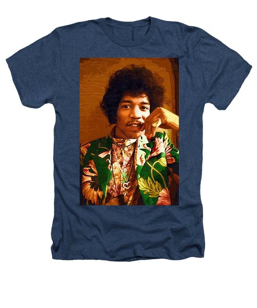 Jimi Hendrix Portrait Heathers T-Shirt