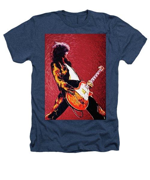 Jimmy Page  Heathers T-Shirt by Taylan Apukovska