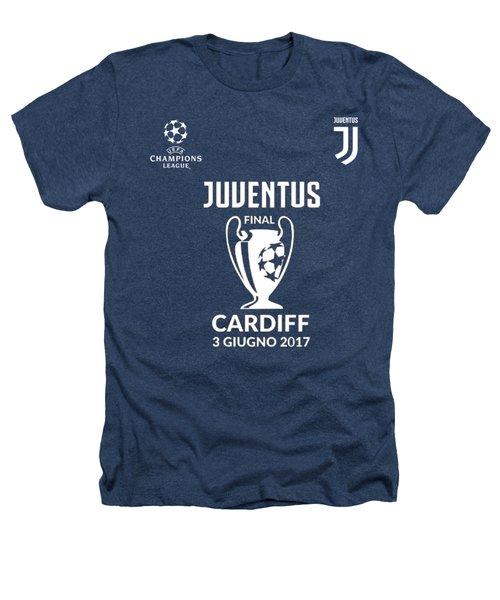 Juventus Final Champions League Cardiff 2017 Heathers T-Shirt by Ipoy Juki