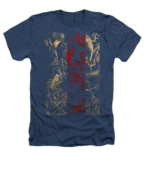 Kingdom Of The Golden Amphibians Heathers T-Shirt by Serge Averbukh
