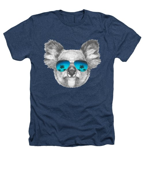 Koala With Mirror Sunglasses Heathers T-Shirt by Marco Sousa