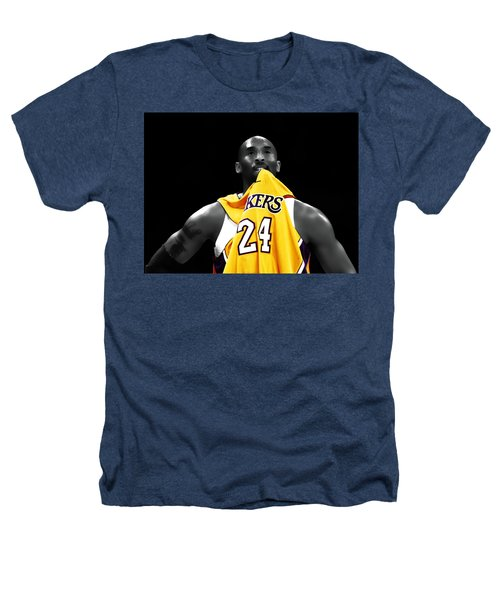 Kobe Bryant 04c Heathers T-Shirt by Brian Reaves