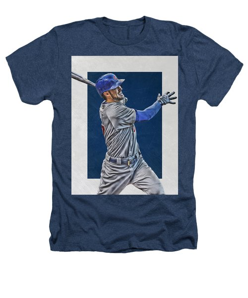 Kris Bryant Chicago Cubs Art 3 Heathers T-Shirt